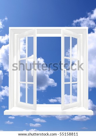 Window in sky - stock photo