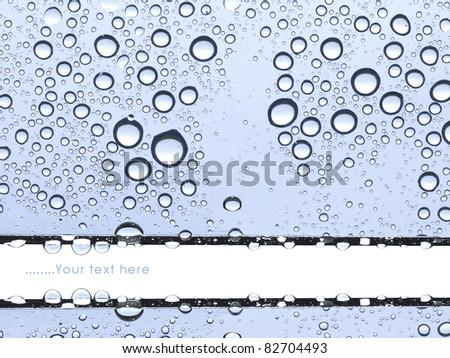 Window in the rainy season. - stock photo