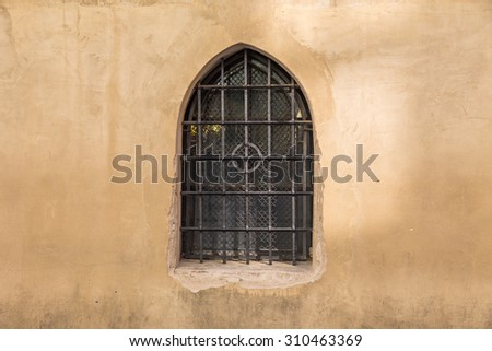 window in the wall - stock photo