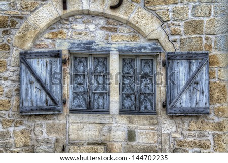 Window in Turenne, France