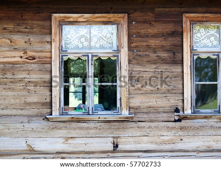 Window in Wooden Ancient House