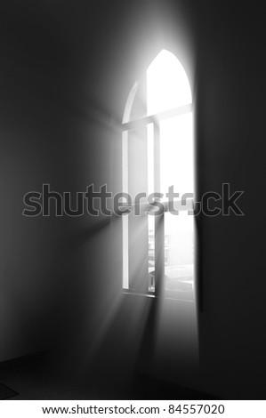 Window light - stock photo