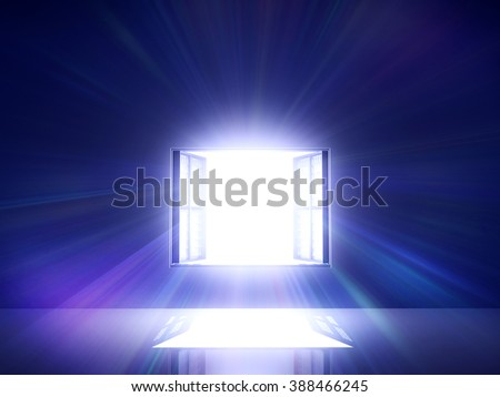 Window light shine in - stock photo