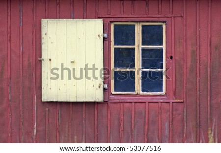 window of an old hut