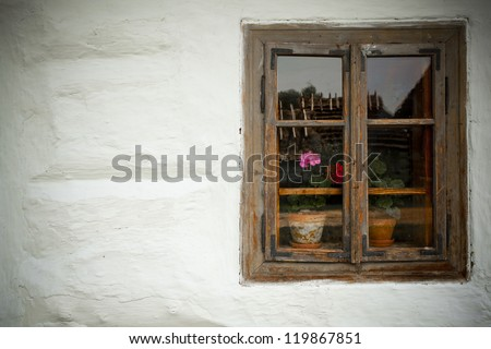 Window of an old traditional house