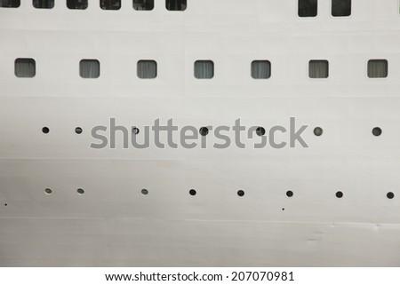 Window Of Cruise Ships - stock photo