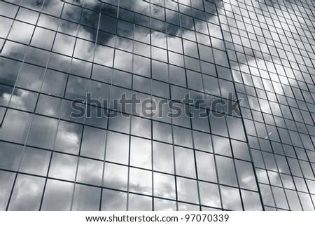 Window of office building - stock photo