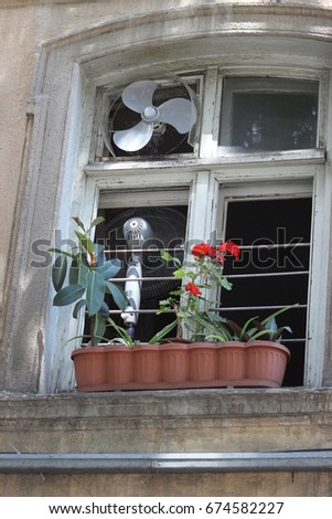 Window Outside Wall Old House House Stock Photo (Royalty Free ...