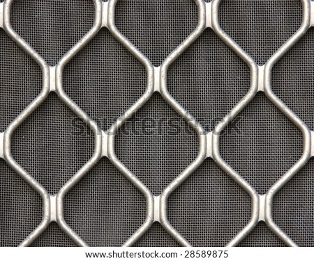 window screen with grill - stock photo