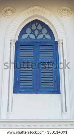 Window style from thailand - stock photo
