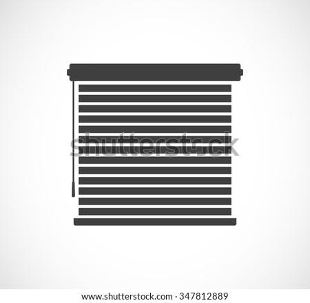 window sun blinds black icon - stock photo