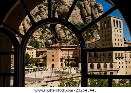 Window to the Cathedral - stock photo