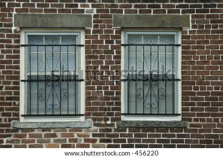 Window treatment, Savannah, Georgia - stock photo