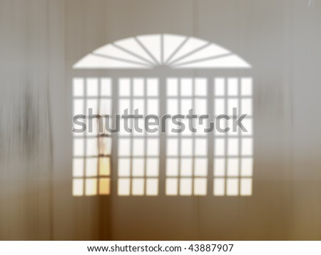 Window - useful as background with space for text - stock photo