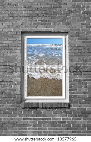 window view of ocean