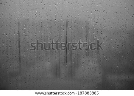 Window waterdrops - stock photo