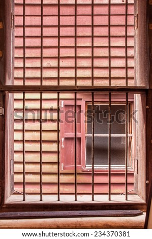 window with cage