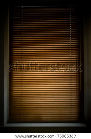 window with closed jalousies - stock photo