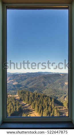 Window with nice forest view