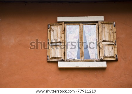 window wood on house - stock photo