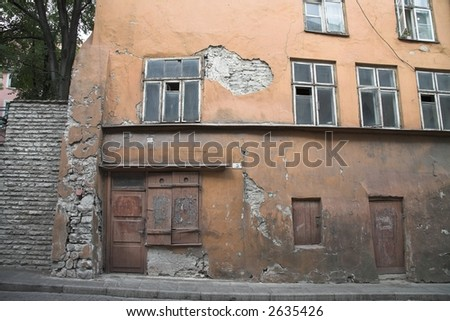 Windows and Doors Tallinn Estonia - stock photo