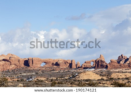 Windows at Arches National Park in Moab, Utah  - stock photo