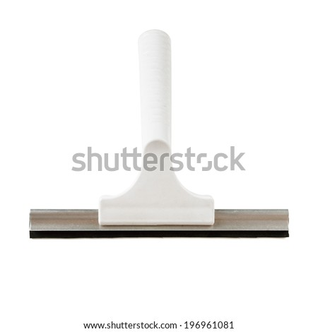 Windows cleaner or window squeegee isolated on white background  - stock photo