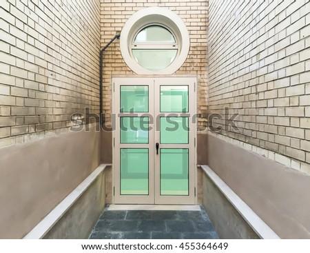 Windows closed door - stock photo