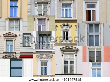 Windows from Vienna, Austria