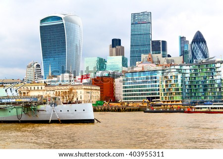 windows    in the city of london home and office   skyscraper   building - stock photo
