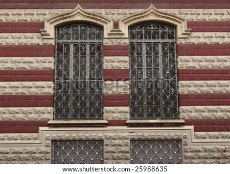 Windows of a Cathedral in La Candelaria, Bogota, Colombia