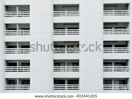 Windows of building,condominium - stock photo
