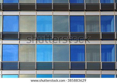 Windows of modern building. Abstract architectural background. - stock photo