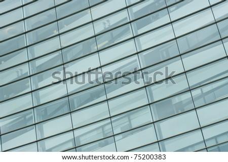Windows of modern office building in Glasgow, Scotland. - stock photo