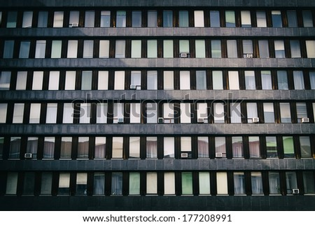 Windows of office building