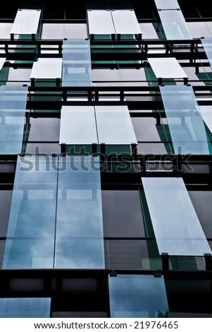 windows of office building - stock photo
