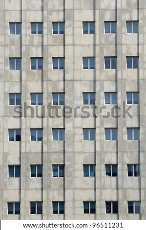 Windows office buildings - stock photo