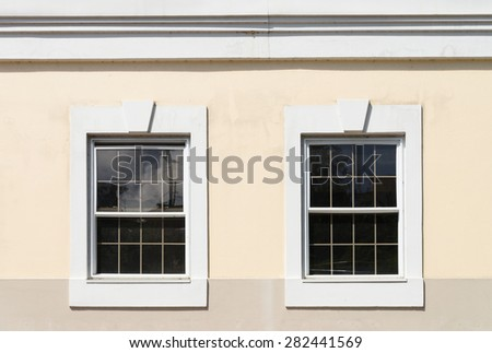 Windows on an old building