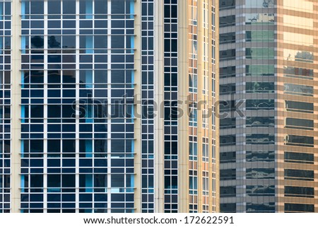 Windows on the Building - stock photo