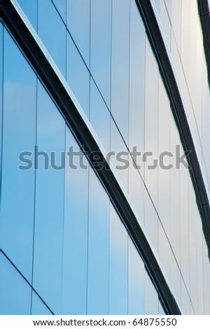 Windows reflection - stock photo
