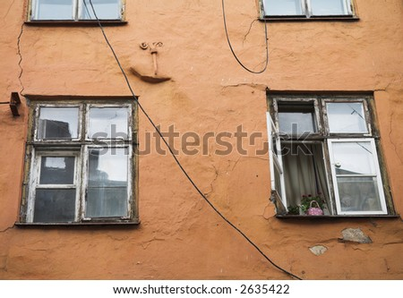 Windows Tallinn Estonia - stock photo