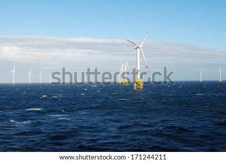 Windpark Offshore - stock photo