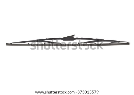 windscreen wipers on a white background - stock photo