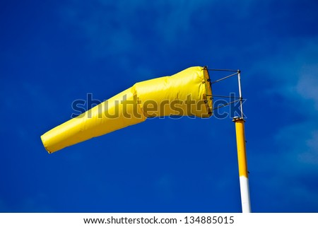 Windsock on Wheat farm in Northern New South Wales, Australia. - stock photo