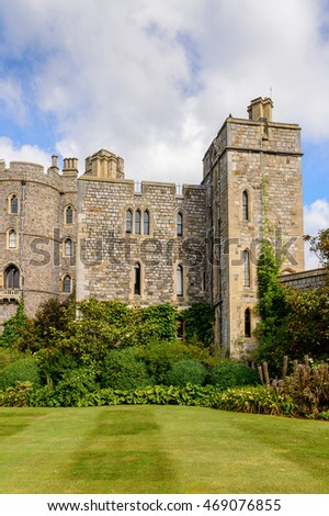 Windsor Castle, Berkshire, England. Official Residence of Her Majesty The Queen