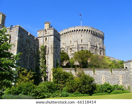 Windsor Palace - England's royal residence - stock photo