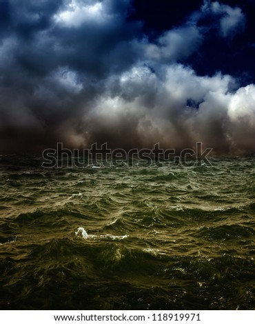 Windstorm - stock photo
