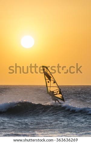 Windsurf - Jericoacoara, Ceara, Brazil - stock photo