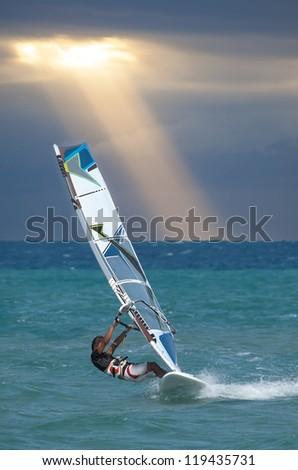 Windsurfing - stock photo