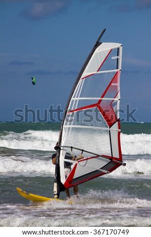 Windsurfing (sport) - stock photo